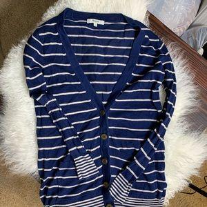 5/$25 Madewell striped cardigan XS